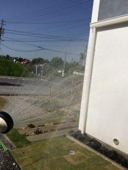 幸田町で注文住宅を建てる共感住宅レイアウトのお庭の水やり