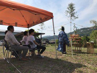岡崎市の注文住宅で開催した地鎮祭は龍城神社の畔柳の写真
