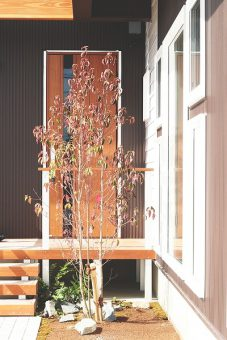 Sさまが岡崎市で建てた共感住宅レイアウトの家 玄関の写真