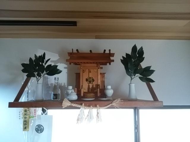 幸田町にある共感住宅レイアウトの神棚の写真