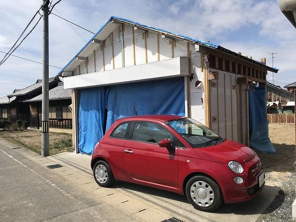 岡崎市・豊田市を中心に注文住宅、新築一戸建てを手掛ける共感住宅ray-out(レイアウト)がリノベーションする豊田市の車庫
