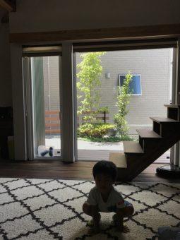 岡崎市・豊田市・幸田町を中心に注文住宅、新築一戸建てを手掛ける工務店の共感住宅レイアウトがデザイン・設計施工した庭の画像
