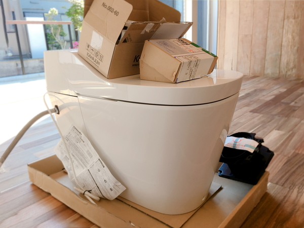 岡崎市・幸田町の自由設計の家づくり、共感住宅レイアウトではトイレはタンクレスが標準。